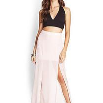 Nwt Sheer Blush Pink Forever 21 Maxi Skirt Long S Photo