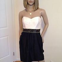 Nwt Shoshanna Empire Waist Corset Dress Black and Cream Size 0 Photo