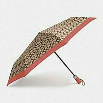 Nwt Signature Coach Umbrella F63364 Khaki Rose Petal Photo