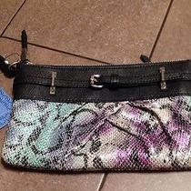 Nwt Simply Vera Vera Wang Tropic Ana Faux Snake Skin Pleated Wristlet  Msrp 39 Photo