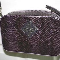 Nwt Simply Vera Wang Georgie Crossbody Handbag Eggplant/purple Python Purse Photo