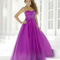 Nwt Size 2 Blush Prom 5108 Mulberry Tulle Ball Gown Formal Prom Dress Photo