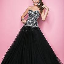 Nwt Size 2 Blush Prom 5235 Black/white Beaded Ball Gown Prom Dress Quinceanera Photo