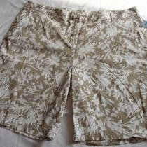 Nwt Size 24w Classic Elements Tan/floral Shorts Hot Buy Brand New Photo