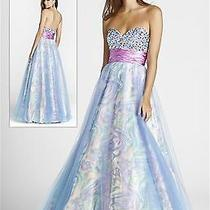 Nwt Size 4 Blush Prom 5032 Multi Colored Ball Gown Formal Prom Dress Photo