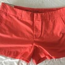 Nwt Size 8 Womens Gap City 3in Khaki Shorts Neon Coral Free Shipping Photo