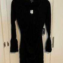 Nwt Size M Black Express Body Conscious Knit Women's Dress Photo