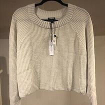 Nwt Size Medium Express Cream Colored Cropped Sweater New With Tags Photo