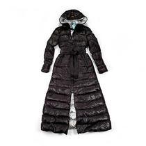 Nwt Size Xs Mackage Women Calina Maxi Lightweight Down Coat Black Photo