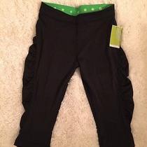 Nwt Skechers Cropped Fitness Wear Yoga Leggins Sz S Black Retail40 Photo