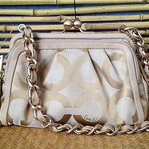 Nwt Small Coach Parker Khaki Op Art Clutch Bag 13623 Photo