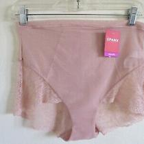 Nwt Spanx 10123r Women's Spotlight on Lace Brief Shaper Xl Vintage Rose Photo
