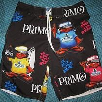 Nwt Special Edition Billabong Primo Beer Chance Em Board Shorts 32 Photo