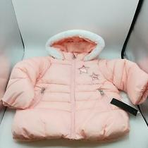 Nwt Steve Madden Baby Girl Hooded Puffer Jacket 2tnwt Blush Color Photo