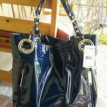 Nwt Steve Madden Navy Tote/purse Bag Photo