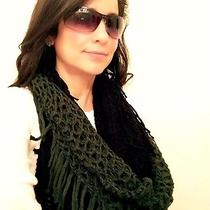 Nwt Steve Madden Winter Fashion Winter Infinity Black and Green Scarf Photo