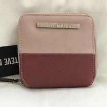 Nwt Steve Madden Women's Pink Blush Btulla Zip Around Wallet Retail 38 Photo