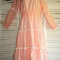 Nwt Sts Sail to Sable Women's Cotton Long Sleeve Dress Blush Size S Msrp 228 Photo
