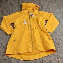 Nwt Style & Co Packable Hooded Yellow Anorak Jacket Water Resistant Size Large Photo