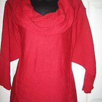 Nwt style&co Red Acrylic sweater.size L Photo