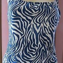 Nwt Sun Blush Animal Print Lined Tankini  Top Swimsuit 12  Photo