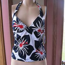Nwt Sun Blush Floral Padded Tankini Halter Top Swimsuit 8  Photo