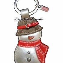 Nwt Super Cute Snowman Coach Key Chain / Gift Box Photo