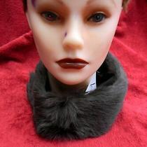 Nwt Surell Rabbit Clip Collar Fur Women's Elegant Style 64006as Photo