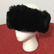 Nwt Surell  Tissavell Womens Ladies Faux Fur Black Headband Hat Made in Usa Photo