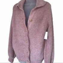 Nwt Susina Blush Teddy Cardigan Fleece Sweater Pink Cozy Button Down Size Small Photo
