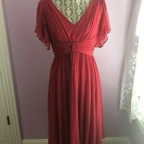 Nwt Suzi Chin for Maggy Boutique Blush Ruffle Bow Dress Sz 6 Photo