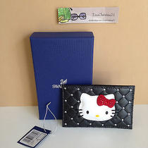 Nwtswarovski Hello Kitty Card Holder Credit Business Card Case & Gift Box95 Photo
