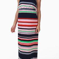 Nwt Sweet Pea Maternity Blush Maxi Striped Dress Size Medium Free Shipping Photo