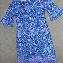 Nwt Sz 2 Lilly Pulitzer Fiesta Stretch Dress Purple Blue Iris Cotton Floral New Photo
