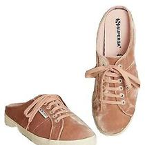 Nwt Sz 7.5 Superga Velvet Mules Blush Pink Slip Ons Anthropologie Sneakers Shoes Photo