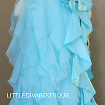 Nwt Sz 8 Biscotti Aqua Special Occasion Girls Dress Pageant Formal Photos Party Photo