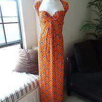 Nwt T-Bags 100% Rayon Geometric Purple Orange Long Maxi Dress Size Xs X-Small Photo