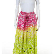 Nwt T-Bags Yellow Multicolored Cotton Embellished Tie Dye Tube Skirt Sz O/s 275 Photo