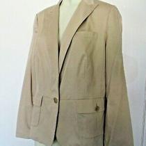 Nwt Talbots Khaki Blazer Jacket Kate Fit Coat Sz 16 Photo