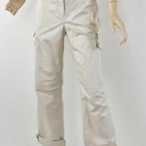 Nwt Talbots Light Khaki Stretch Cotton Signature Fit Roll-Cuff Cargo Pants M 8 Photo