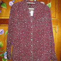 Nwt Talbots Petite Sz Xl Button Down Shirt Long Sleeves-Burgandy -Tag 89.50 Photo