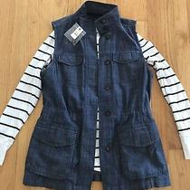 Nwt Talbots Utility Vest Gap Striped Top Set Outfit Small New Photo