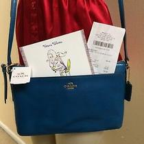 Nwt Teal Coach Smith Leather East West Swingpack Crossbody Purse 52638 Photo