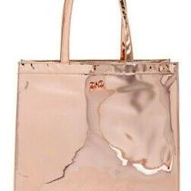 Nwt - Ted Baker - Jencon - Mirrored Large Icon Tote - Rose Gold Photo