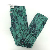 Nwt Textile Elizabeth and James Madewell Low Rise Skinny Jeans 25 Green Snake Photo