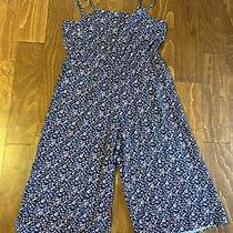 Nwt the Gap Spaghetti Strap Romper Blue Pink Floral Size Xl 3/4 Pants  Photo