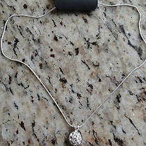 Nwt the Limited Beautiful Silver Snowball Necklace Chain   Photo