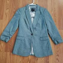 Nwt the Limited One Button Blazer Heathered Blue Career Jacket Fitted Size Xs  Photo