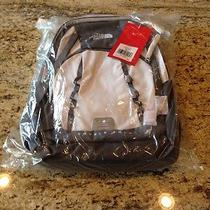 Nwt the North Face Base Camp Double Shot Laptop Waterproof Backpack White Zinc Photo