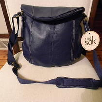 Nwt the Sak Deena Leather Crossbody Bag in River Photo